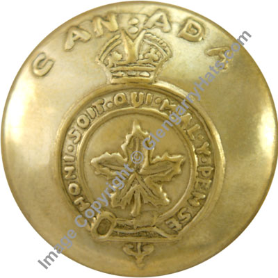 Canada General Service King's Crown Uniform Buttons