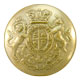 Medium Brass United Kingdom / British Commonwealth Queen Victoria Crown Military Uniform General Service Button