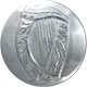 Chrome Large Irish Harp Uniform Buttons