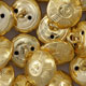 Gold 42nd Highlanders Uniform Buttons
