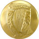 Gold LARGE Irish Harp Uniform Buttons