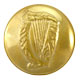 Gold Medium Irish Harp Uniform Buttons