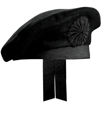 GlengarryHats.com Black Irish Caubeen Hat
