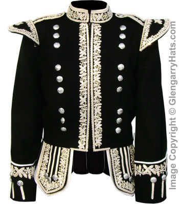 "GlengarryHats.com Silver Hand Embroidered ""Royal"" Doublet"