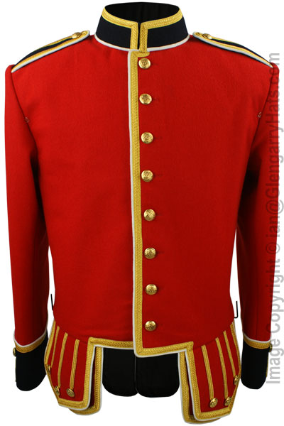 Red Piper Doublet with Dark Blue Facings and Gold Trim