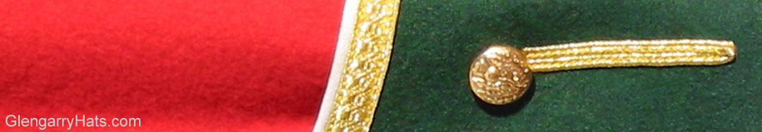 Red Piper Doublet with Green Facing and Gold Trim