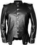 Black Leather Highland Doublet