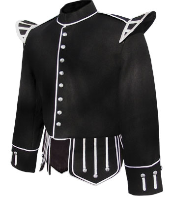Black Melton Wool Piper Doublet