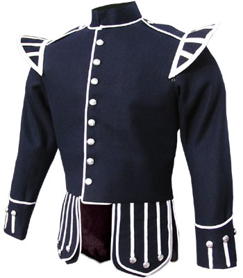 Dark Blue piper doublet with removable shoulder shells