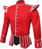Red / Scarlet Highland Piper Doublet