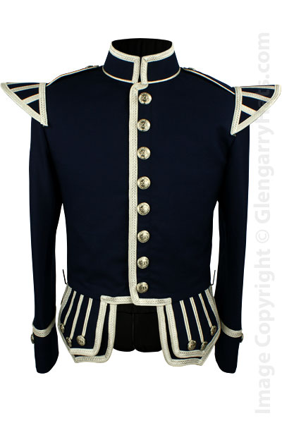 Black Traditional Scots Guards Style Doublet