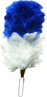 Red / White / Blue Feather Hackle