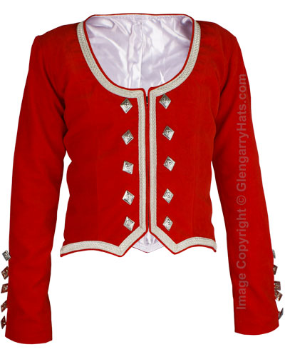 Red Melton Wool Piper Doublet