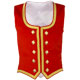 Red Velvet Highland Dance Vest