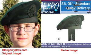GlengarryHats.com copyrighted image unauthorized use by Pakistan based vendor