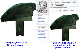GlengarryHats.com copyrighted image unauthorized use by Wikipedia Uploader