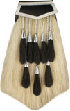 Chrome Campbell of Breadalbane 8 Tassel Horsehair Sporran